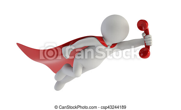 3D gente pequeña - super llamada - csp43244189