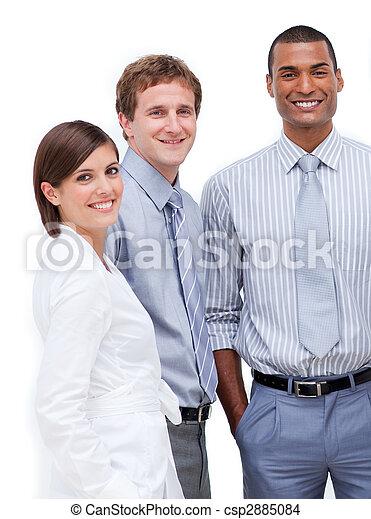 La gente de negocios multiétnica sonr juntos - csp2885084