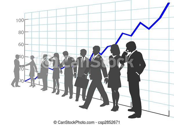 La gente de negocios saca provecho de la historia del crecimiento - csp2852671