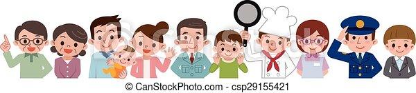Gente de varias ocupaciones - csp29155421