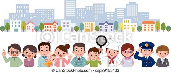 Gente de varias ocupaciones - csp29155433