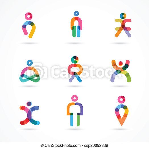 Coleccion de coloridos vectores abstractos - csp20092339