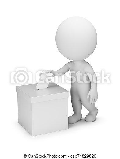 gente, votación, -, 3d, pequeño - csp74829820
