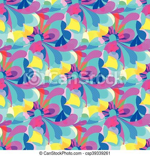 gentle beautiful flowers seamless pattern - csp39339261