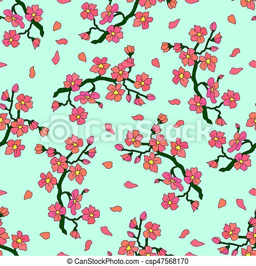Gentle branch of cherry blossoms - csp47568170