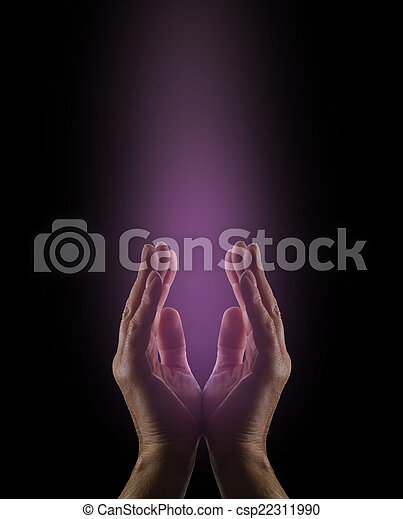 Gentle Magenta Healing Energy - csp22311990