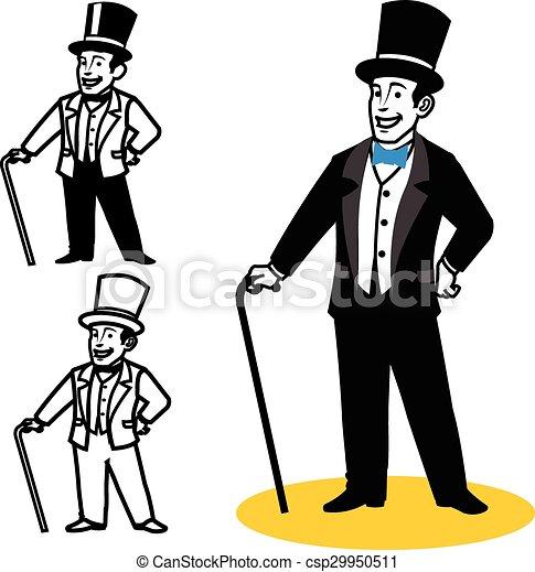 vector illustration of gentleman cartoon graphics vector clip art rh canstockphoto com