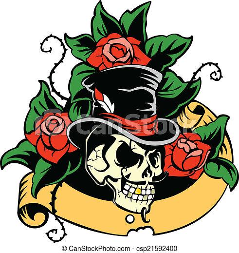 Gentleman's skull - csp21592400