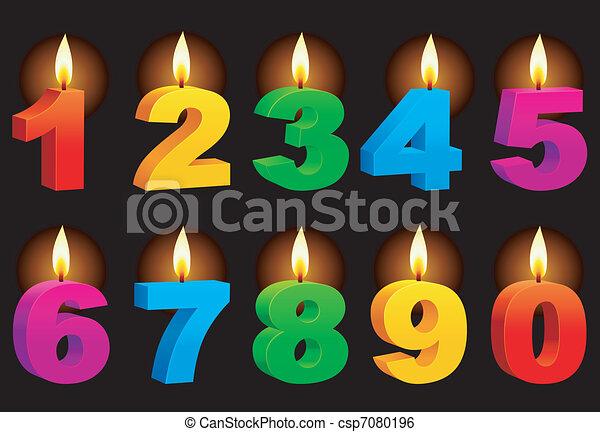 genummerde, candles. - csp7080196
