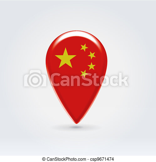 Geo location national point label - csp9671474