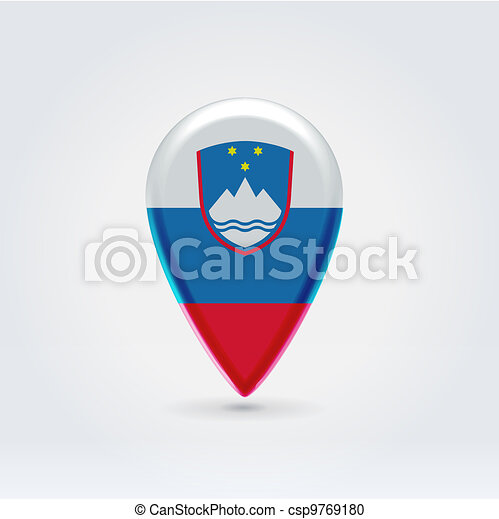Geo location national point label - csp9769180
