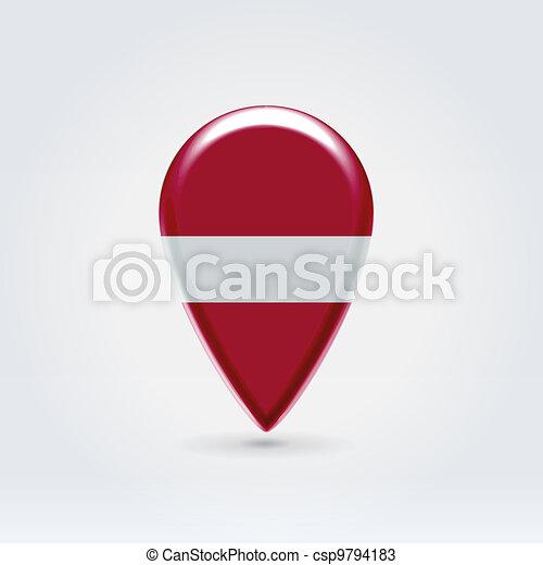 Geo location national point label - csp9794183