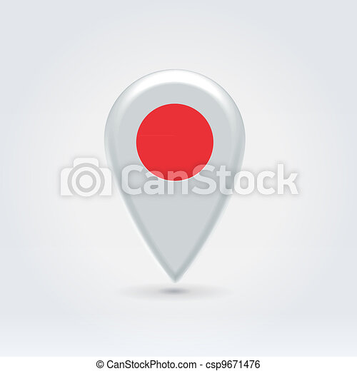 Geo location national point label - csp9671476