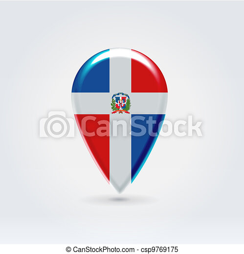 Geo location national point label - csp9769175