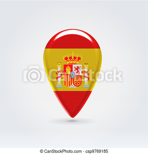 Map Of Spain To Label.Geo Location National Point Label