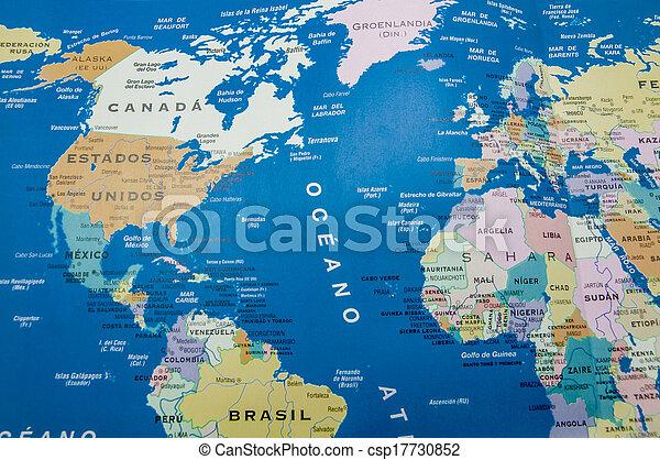 geographic map - csp17730852