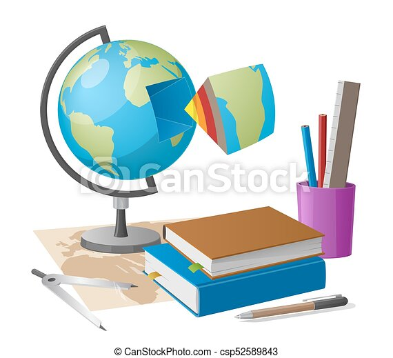Geography lesson related elements cartoon globe geography lesson geography lesson related elements cartoon globe csp52589843 gumiabroncs Choice Image
