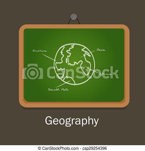 geography school subject study chalk board class earth globe