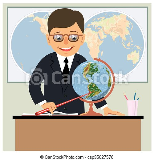 Geography Teacher Stock Photo & More Pictures of 60-69 Years   iStock