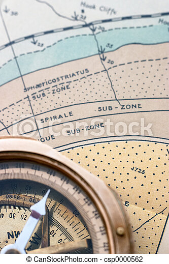 Geol map and compass - csp0000562