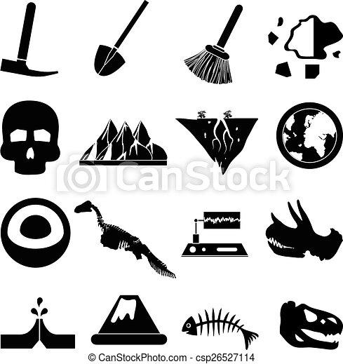 geologia, jogo, ícones - csp26527114