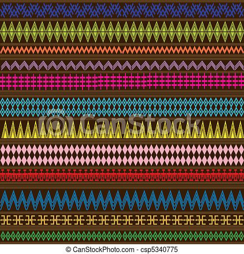geomã©´ricas, étnico, ornamentos, textura, multicolored - csp5340775