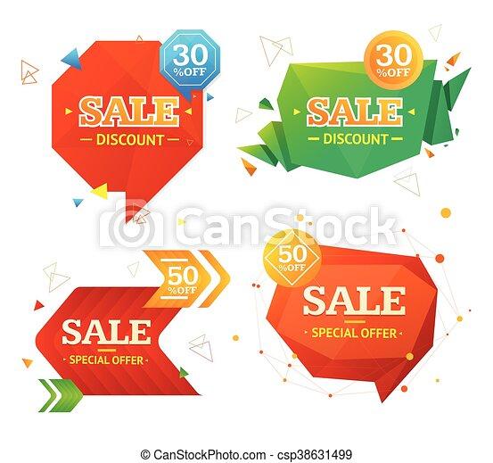 Etiqueta de venta de Geometría. Vector - csp38631499