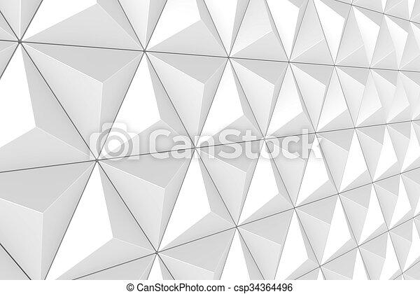 Geometric 3d Triangular Texture 3d Render Of Faceted Triangular