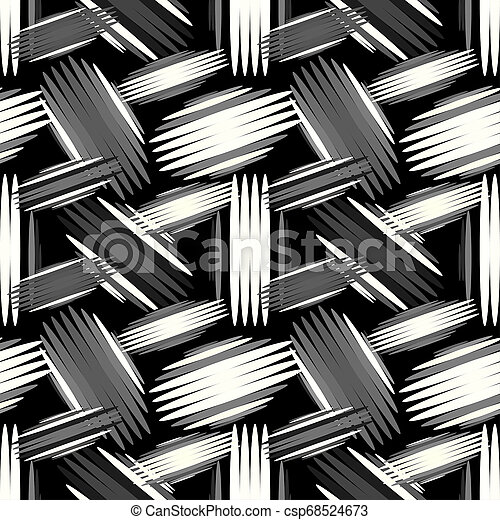 geometric abstract seamless pattern on a black background - csp68524673