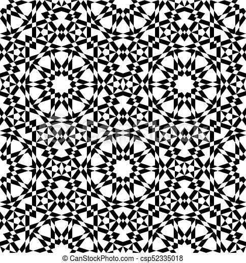 Vector. Geometric Arabic Seamless Pattern.   Csp52335018