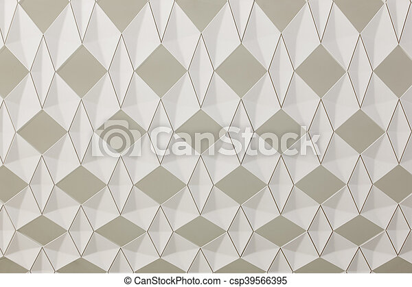 Geometric background with diamond structure in beige tone - csp39566395