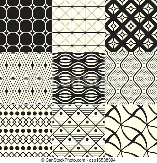 geometric black / white background - csp16538394