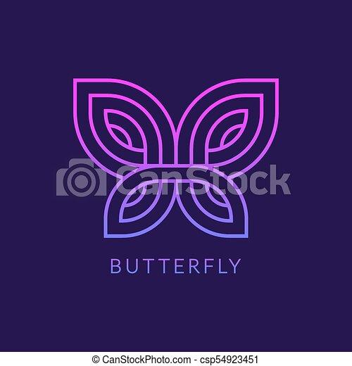 1c863b2e7 Geometric butterfly logo. Stylized geometric butterfly logo design ...