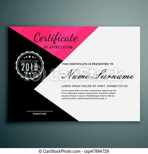 Geometric certificate design in modern style vector illustration geometric certificate design in modern style csp47994729 altavistaventures Image collections