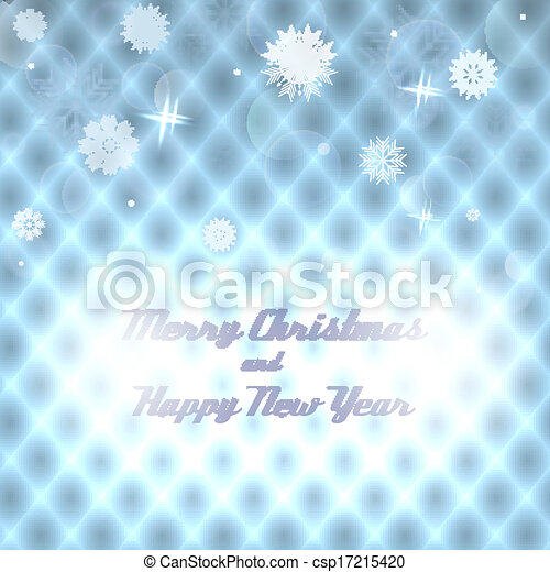 Geometric Christmas background with snowflakes - csp17215420