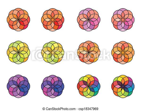 Geometric circle color - csp18347969