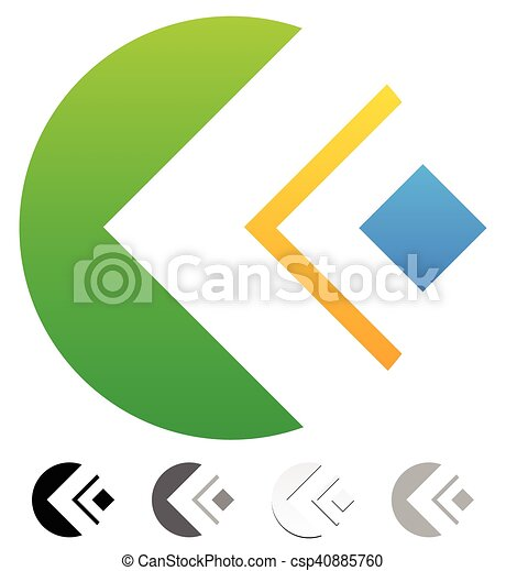 Geometric colorful abstract - generic logo template. different ...
