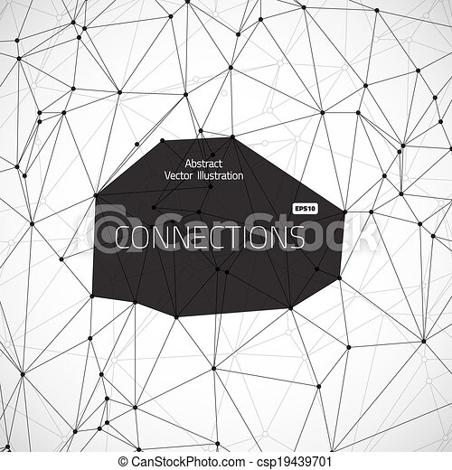 Geometric conections vector illustration - csp19439701