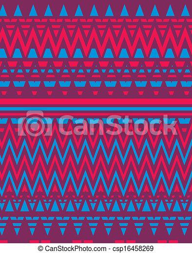 geometric ethnic design vector art - csp16458269
