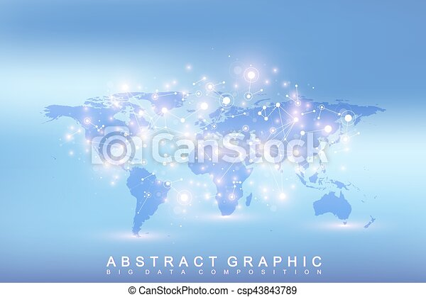 Geometric graphic background communication with political vector geometric graphic background communication with political world map big data complex with gumiabroncs Gallery