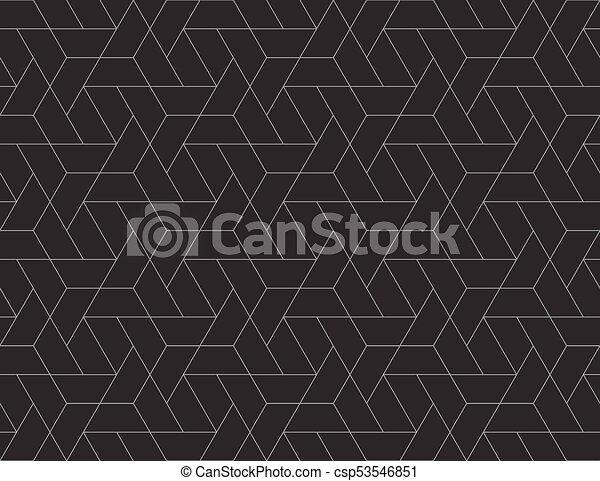 Geometric grid seamless pattern - csp53546851