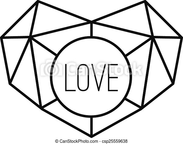 geometric heart background with lines vector modern concept vectors rh canstockphoto com Modern Geometric Clip Art Line Tattoos Geometric