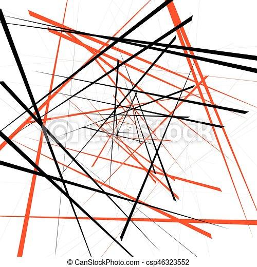 Geometric Illustration With Random Intersecting Lines Editable Abstract Art