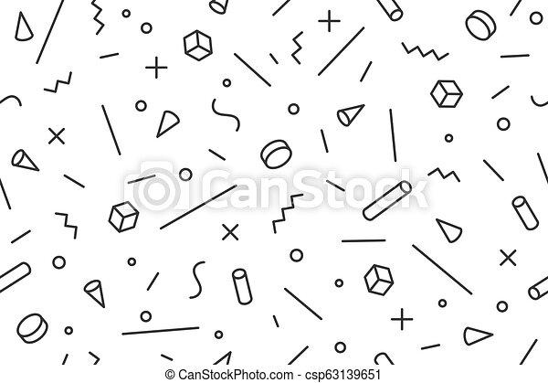 Geometric memphis pattern  Seamless graphic pattern 80s-90s trendy styles