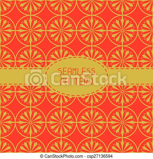 Geometric National Chinese Seamless Pattern Wrapping Paper For Scrapbook New Year