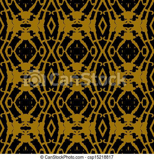 Geometric ornament in art deco style in gold. Linear geometric ...