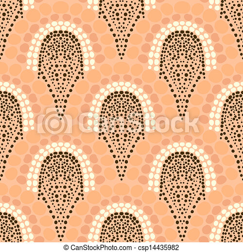 Geometric pattern in art deco style in soft colors - csp14435982