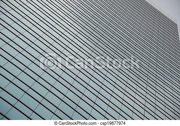 Geometric pattern of windows on gla - csp19877974