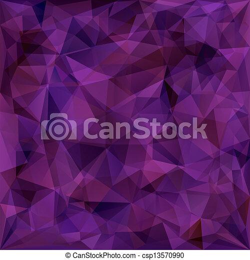 Geometric pattern, triangles background - csp13570990