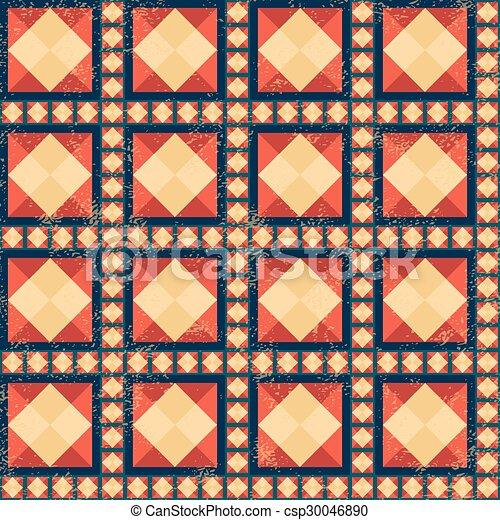 Geometric pattern with grunge effect - csp30046890